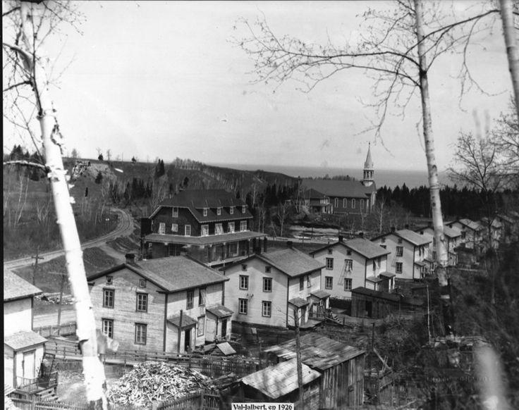 Rue Saint-Georges a Val-Jalbert en 1926, Lac St-Jean