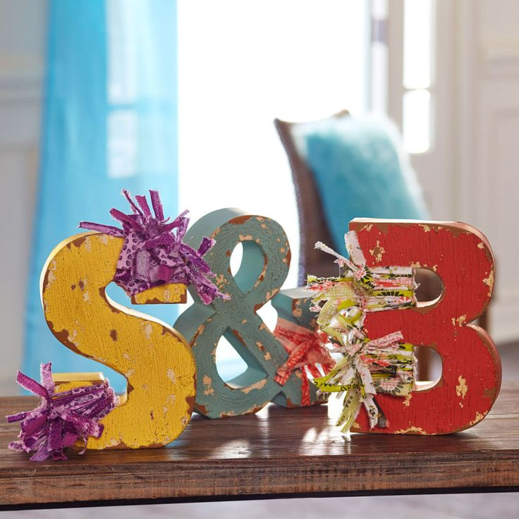 Tie Your Home Decor Together With A Rag Letter Monogram From The Make Market