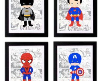Ähnliche Artikel wie Druckbare Batman Superheld Kunstwerk - ein Superhelden-Wandkunst Im - jungen Zimmer Superhelden - Monochrom - INSTANT DIGITAL DOWNLOAD auf Etsy