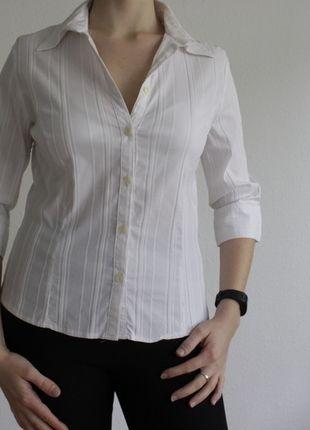 Kaufe meinen Artikel bei #Kleiderkreisel http://www.kleiderkreisel.de/damenmode/blusen/126351894-weisse-bluse-mit-eingenahtem-streifenmuster-von-ca