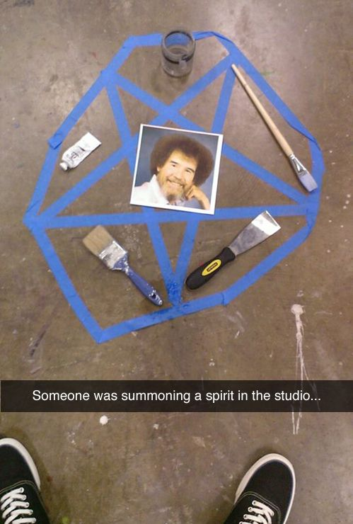 Someone was summoning a spirit in the studio...