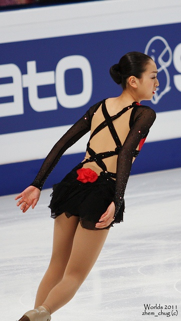 Mao Asada-Black Skating / Ice Skating dress inspiration for Sk8 Gr8 Designs.