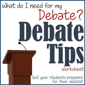 """Debates can be a difficult task for students to grasp when they begin constructing their speeches. This two-page worksheet gives 15 tips for the student to do to better prepare for their debate, as well as asks them a question to accompany the tip. Example of a tip on the worksheet includes:Tip #3: """"Always give the audience something to take home."""