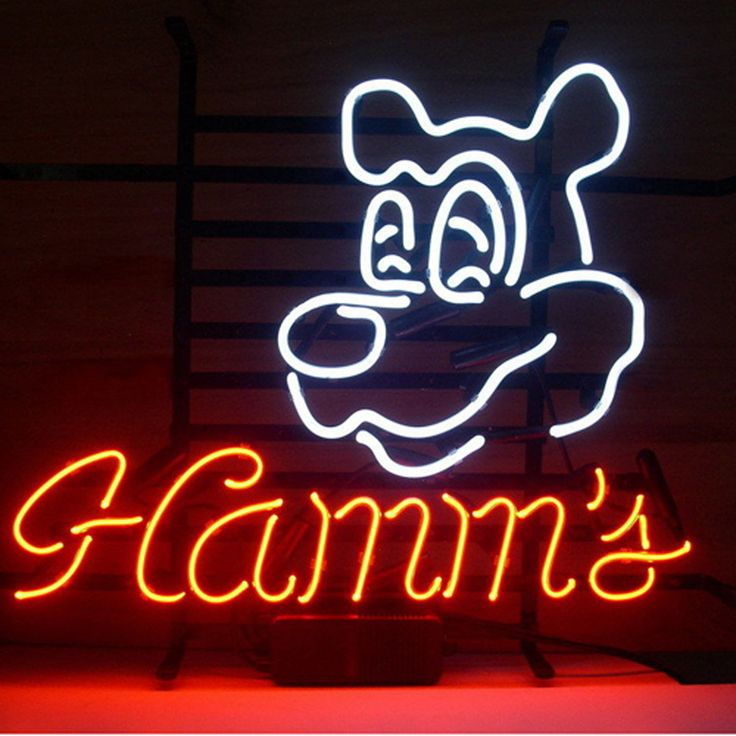 1785 best neon images on pinterest vintage neon signs hotel motel hamms real glass neon light sign home beer bar pub windows garage w aloadofball Gallery