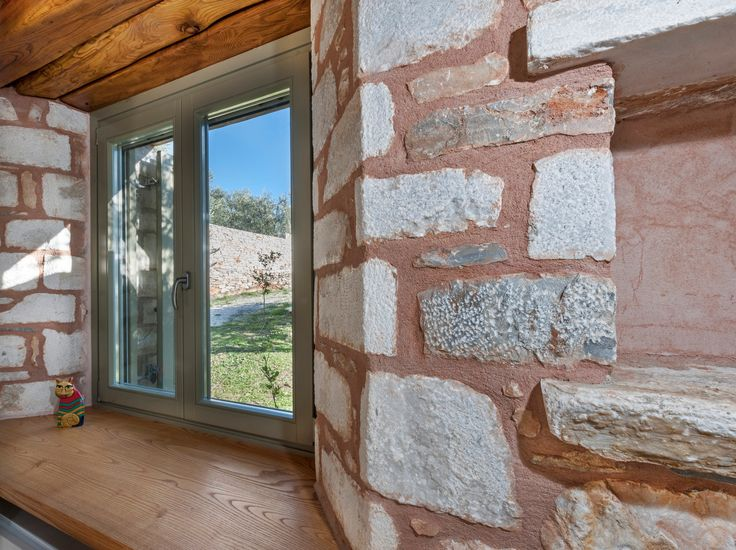Windows _ holiday | house | Pelion | Sporades | interior | design | detail | traditional | stone | natural materials _ visit us at: www.philippitzis.gr
