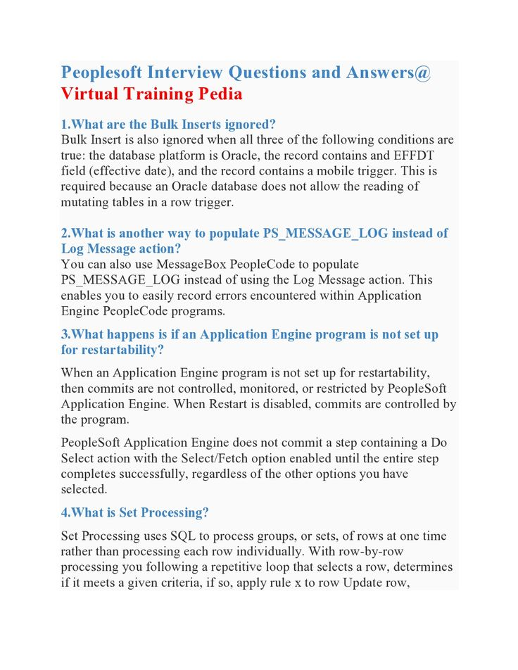 Awesome Here Are Some Interivew Questions On Peoplesoft.VTP Provides Peoplesoft  Online Training.Join VTP · Interview QuestionsJoin