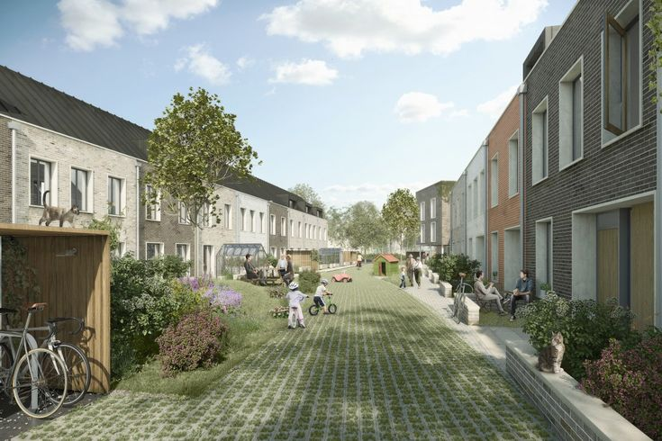 Cambridge's first co-housing project, designed to Passivhaus standards around a common garden overlooked by a Common House.