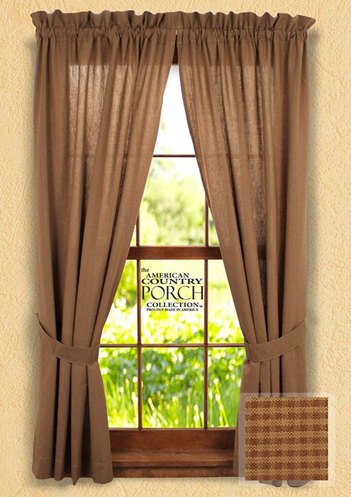 1000 images about primitive curtains on pinterest for Cottage style curtain ideas