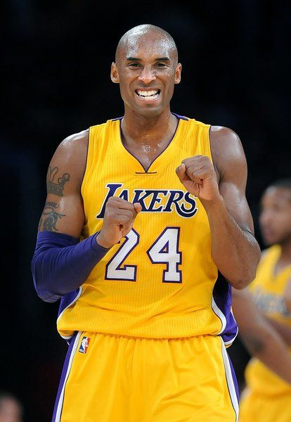 Kobe Bryant reacts after almost stealing the ball against the Trail Blazers