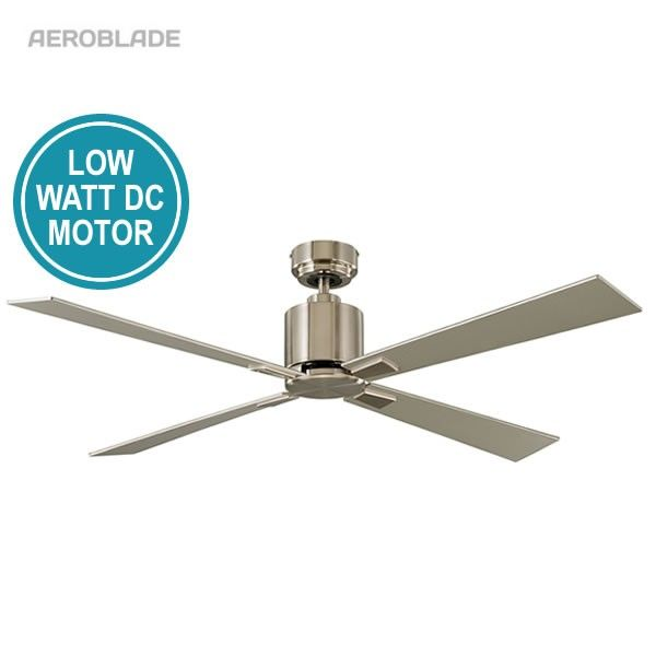 """Quantum DC Ceiling Fan With Remote - Satin Nickel 52"""""""