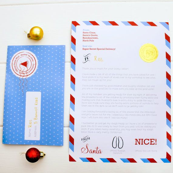 This personalised letter from Santa himself that folds down into a neat little envelope, giving children an extra piece of magic this Christmas.    Personalised Folded Letter From Santa. Letter from Father Christmas.