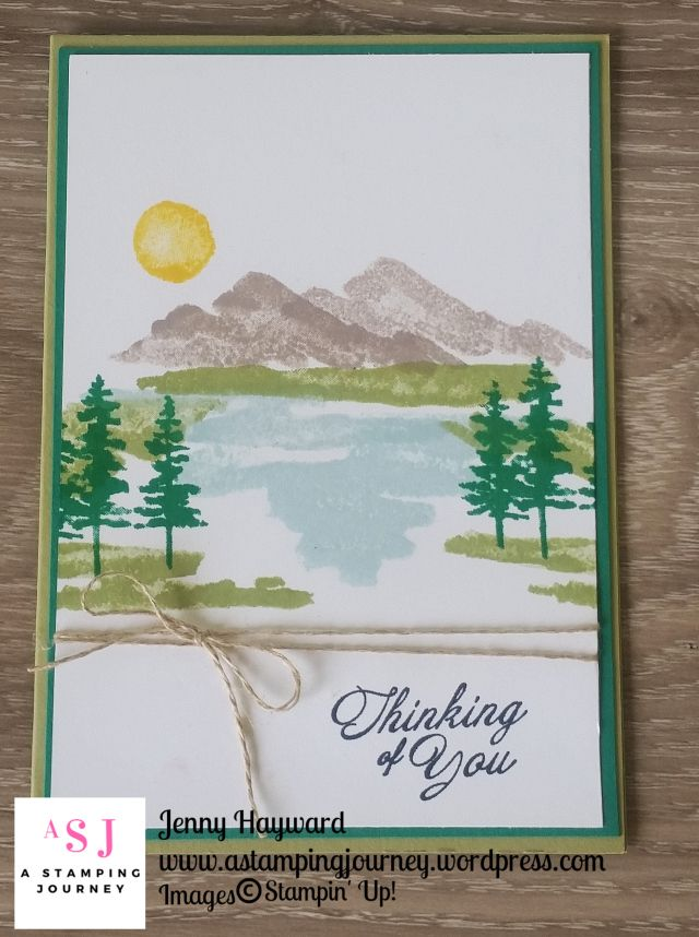Playing with the Waterfront set to get a feel for it.  CASED Helen Read for this simply stamped card.  #stampinupaustralia