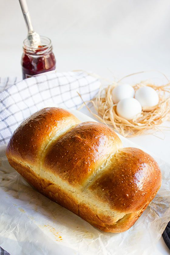 Classic Brioche, with much less proofing time. Fluffy yet rich loaf of bread. This recipe for French bread, will amaze you. Get the recipe here: http://www.munatycooking.com/2017/02/classic-brioche.html
