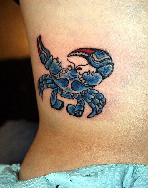 Tattoo crab spank lower back