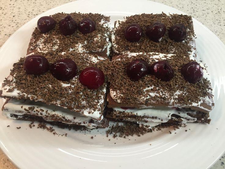 Диетический торт Черный Лес. Низкокалорийная выпечка.