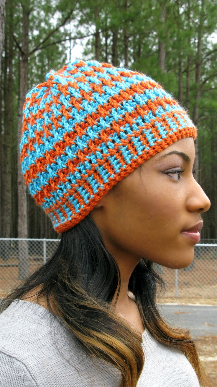 Morning Frost - A Free Crochet Hat Pattern Lots of looks by just changing the color pattern.