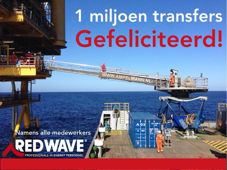 1 miljoen transfers door Ampelmann!