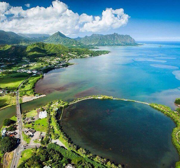 Гавайские острова с высоты птичьего полета