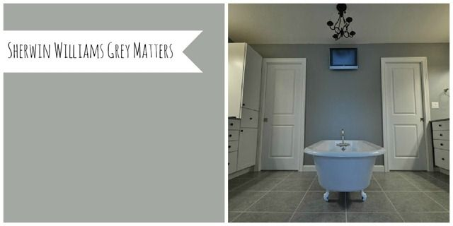 Sherwin Williams Grey Matters.  It's growing on me.