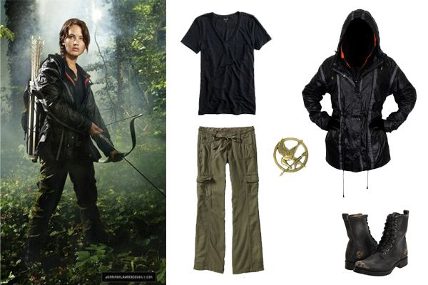 The arena wear was the clothing worn by the tributes during their time in the arena. They were new and were the same for each tribute, except from the colors used. The stylists had no say in the tributes' uniforms, but were often able to use the composition to provide clues regarding the until-then unseen arena. Tributes could also have a token as a piece of their home, as long as it didn't give them an unfair advantage in the arena. For the 74th Hunger Games, the outfits were tawny...