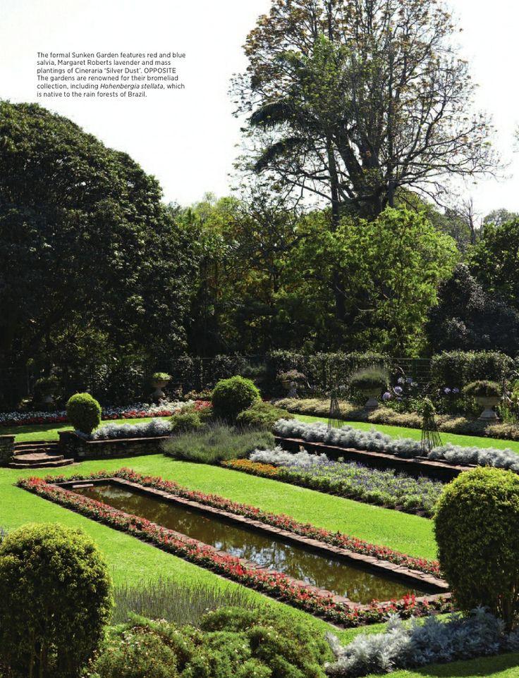 Formal Sunken Garden Durban Botanic Gardens ...