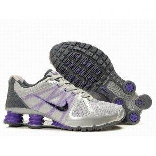 Nike Shox Agent Women Silver/Grey/Purple/Black Shoes 1001