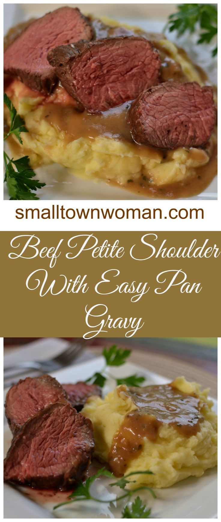 This Beef Petite Shoulder with Pan Gravy is by far one of my favorite recipes!