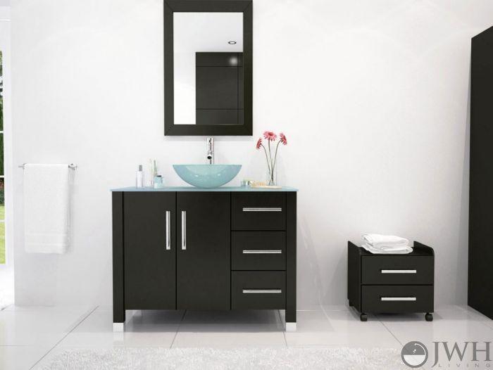 Photo Gallery In Website  Crater Single Vessel Sink Vanity Glass Top