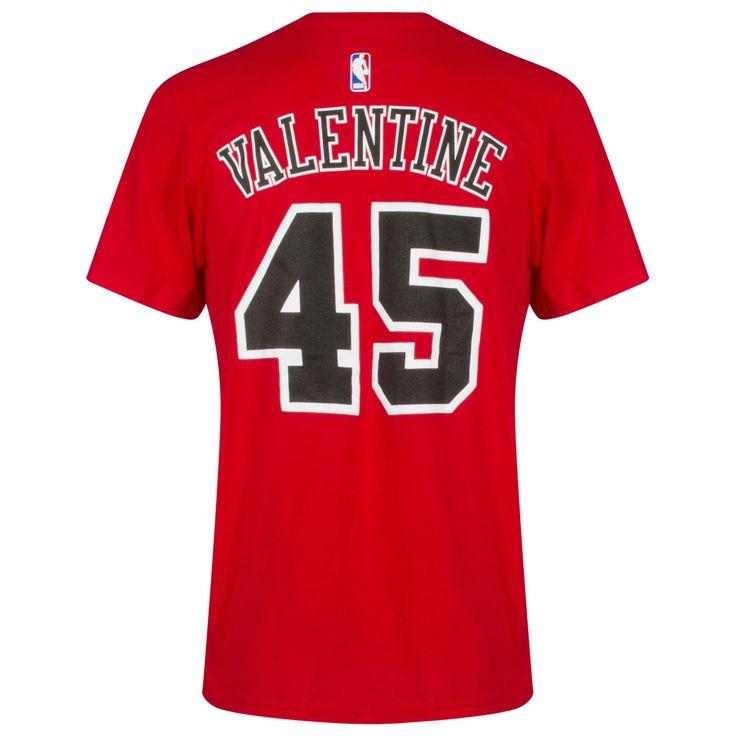Chicago Bulls Mens Red Denzel Valentine Player Tee by Adidas #Chicago #Bulls #ChicagoBulls #DenzelValentine #Valentine