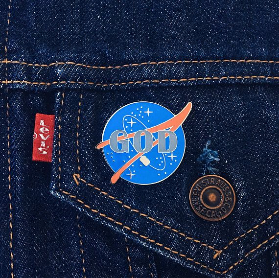 God Pin   Space Pin   Nasa Enamel Pin   Space Lapel Pin   Cosmic Pin