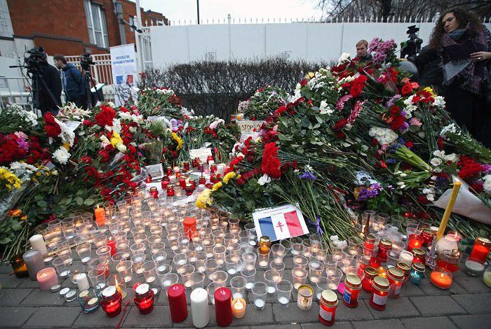 Мир скорбит вместе с Парижем. #Москва