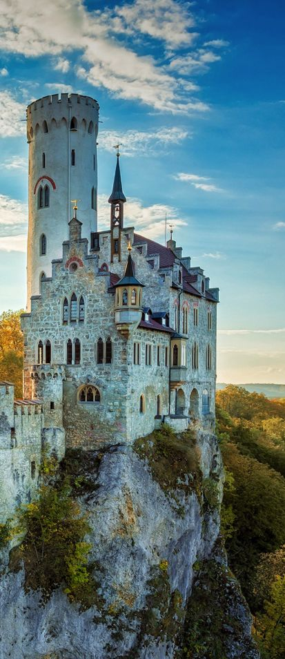 Lichtenstein Castle, Baden-Wurttemberg, Germany ✈✈✈ Here is your chance to win a Free Roundtrip Ticket to anywhere in the world **GIVEAWAY** ✈✈✈ https://thedecisionmoment.com/free-roundtrip-tickets-giveaway/