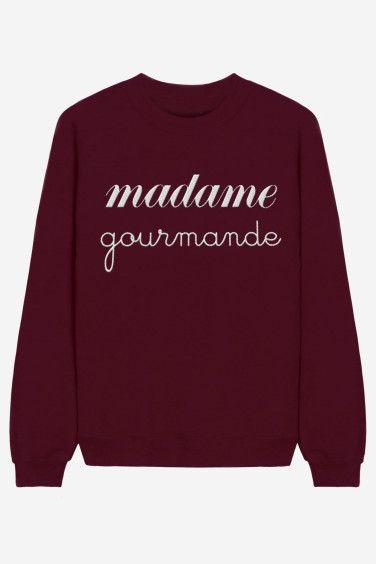 Madame Gourmande - brodé