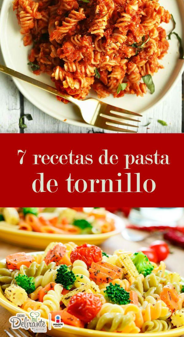 recetas de pasta de tornillo | CocinaDelirante