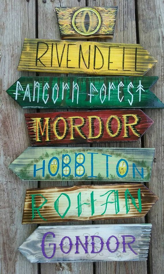 Lord of The Rings yard sign. Rustic by DevcoDesigns on Etsy