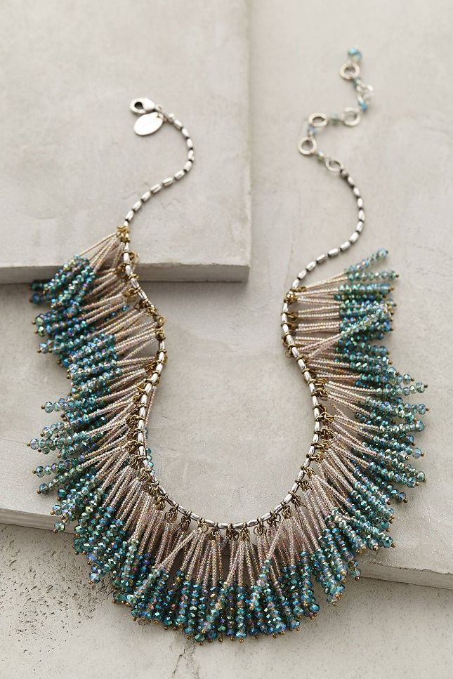 How cool is this beaded fringe necklace?: