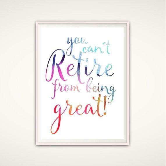 Retirement PRINTABLE- Retirement Gifts for Women, Retirement Print, Teacher…
