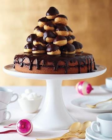 Profiterole cake.