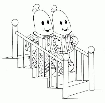 We can print some of these off and set up a coloring station! Bananas in Pyjamas Coloring Pages   Learn To Coloring