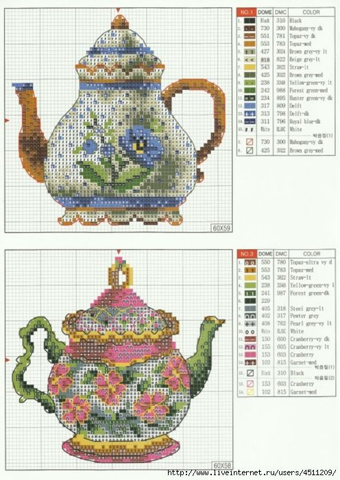 teapot cross stitch