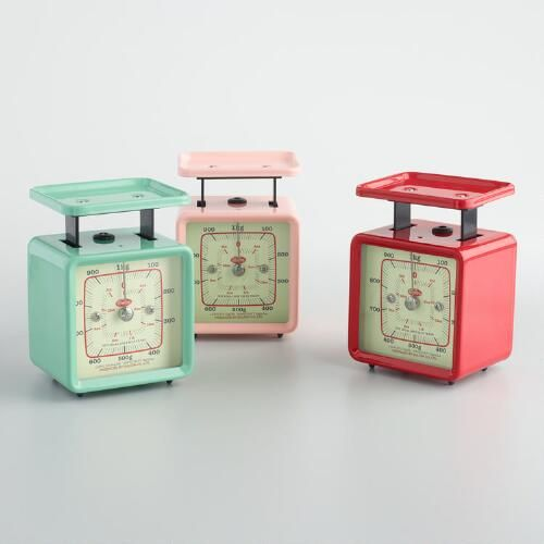 One of my favorite discoveries at WorldMarket.com: Mini Retro Kitchen Scale Set of 3