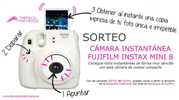 Farmacia Mar Menor te invita al sorteo de una cámara instantánea Fujifilm Instax Mini 8