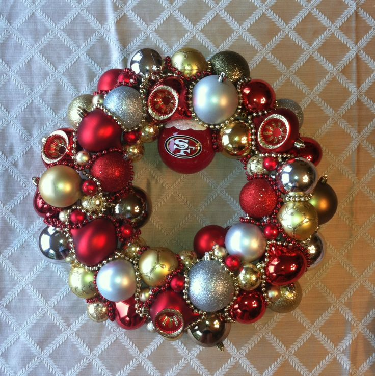 DIY 49ers Ornament Wreath! | home decor | Pinterest ...