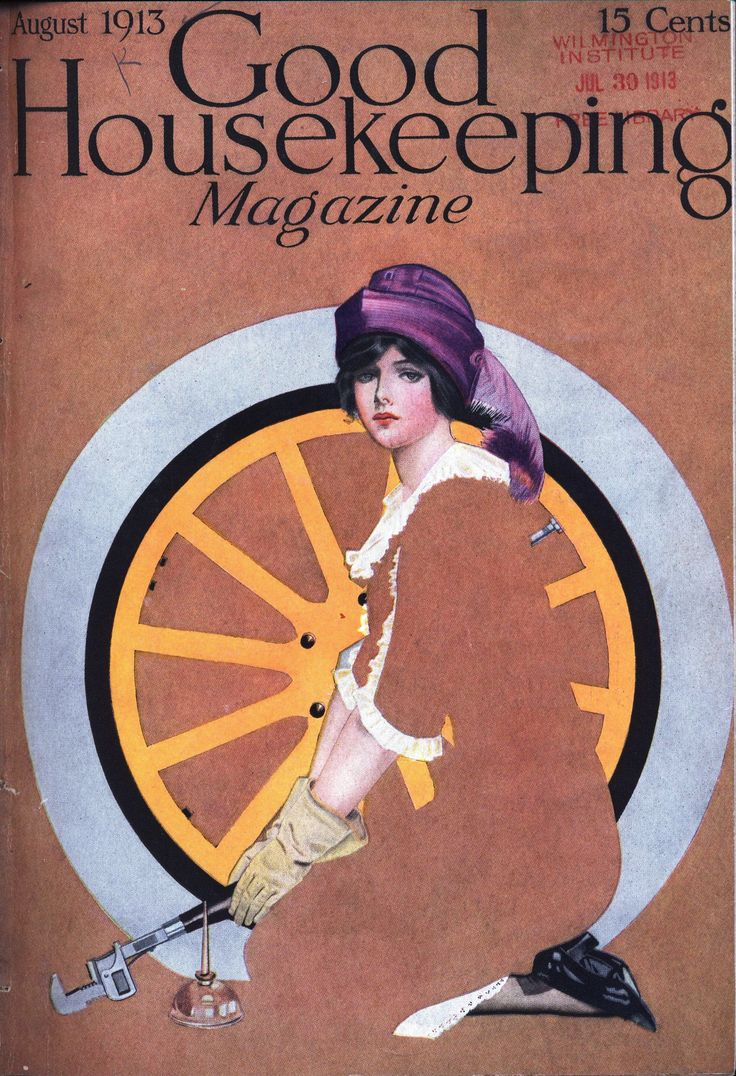 Coles Phillips for Good Housekeeping, August 1913.