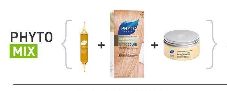Phyto Mix για να βάψεις τα μαλλιά σου σε 3 βήματα απόλυτου ξανθού: αμπούλα περιποίησης πριν ή μέσα στη βαφή Huile d'Ales, φυτική βαφή φροντίδα Phytosolba Color Και Phytocitrus Mask Για μετά το σαμπουάν  Απολαμβάνεις απόλυτο, υγιές ξανθό που λάμπει!
