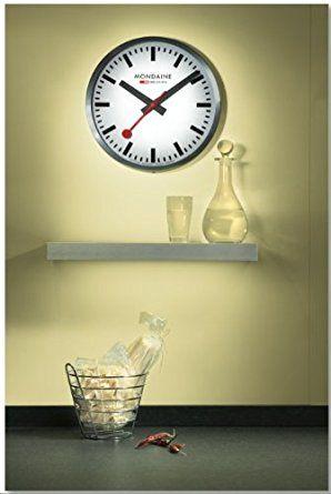 Amazon.com: Mondaine A990.CLOCK.16SBB Wall Clock White Dial: Mondaine: Watches