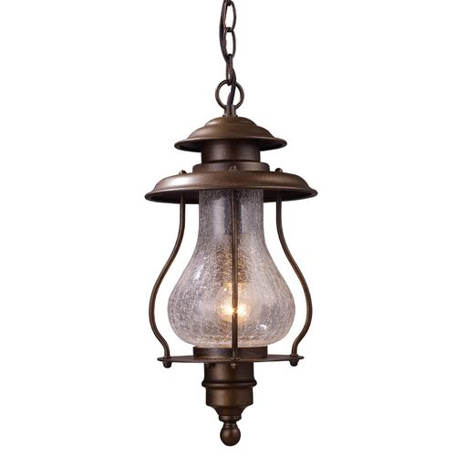 Elk Lighting Outdoor Hanging Light with Clear Glass in Coffee Bronze Finish | 62006-1 | Destination Lighting