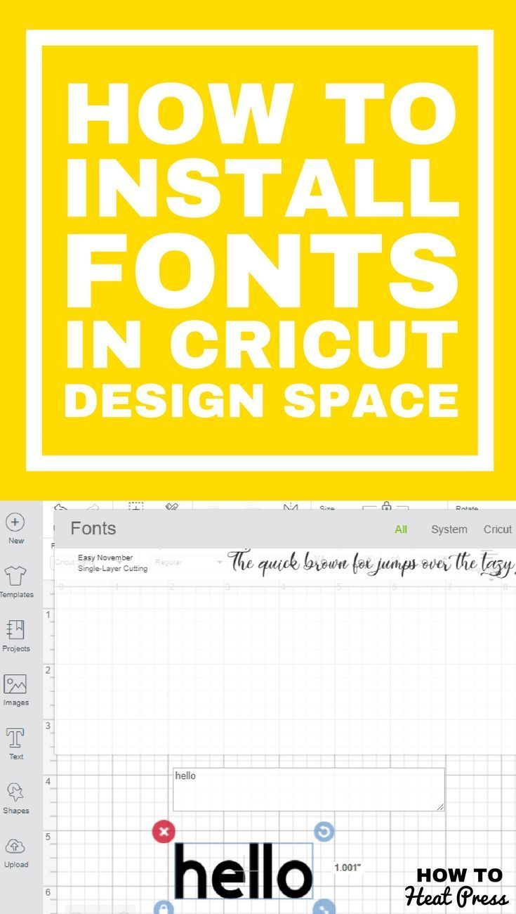 How to Install Fonts In Cricut Design Space - Upload Fonts Easily