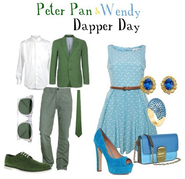 Peter Pan and Wendy outfits. Thought it would make a really cute theme for engagement photos or something.