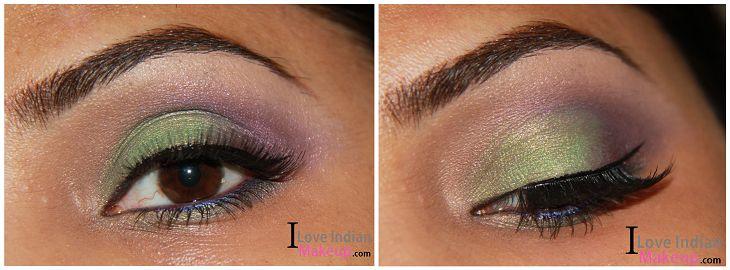 Green & Purple Eye Makeup  Read More Here : http://iloveindianmakeup.com/green-purple-eye-makeup/